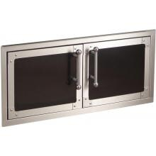 Fire Magic Echelon Black Diamond Reduced Height Double Access Doors With Soft Close - 53938HSC image