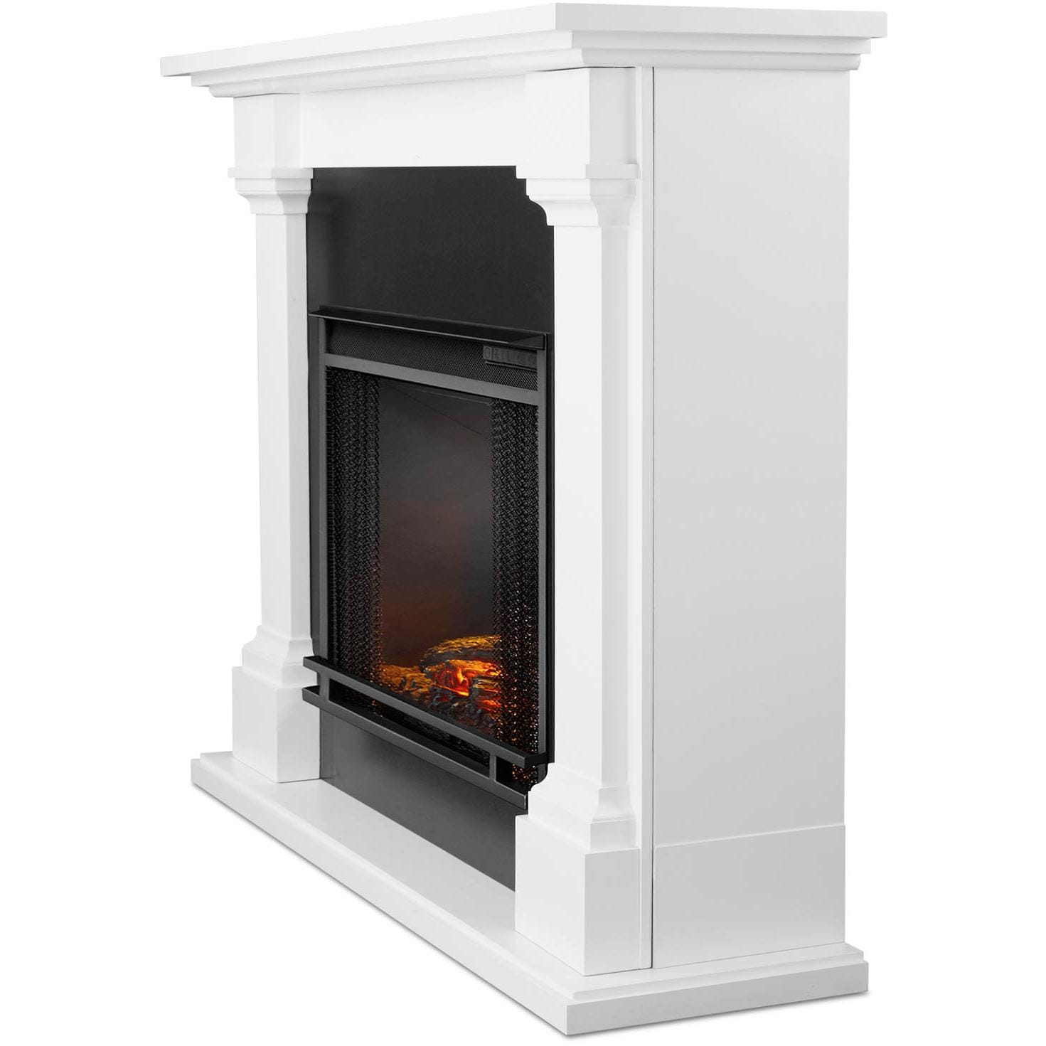 Real Flame Callaway Grand 63 Inch Electric Fireplace With Mantel White Gas Log Guys
