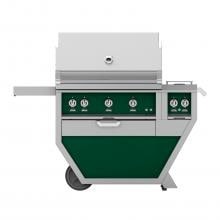 Hestan Deluxe 36-Inch Freestanding Natural Gas Grill W/ All Infrared Burners, Rotisserie & Double Side Burner - Grove - GSBR36CX2-NG-GR image