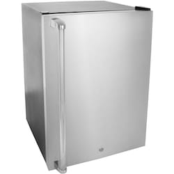 RCS 21-Inch 4.6 Cu. Ft. Outdoor Right Hinge Compact Refrigerator With Stainless St…