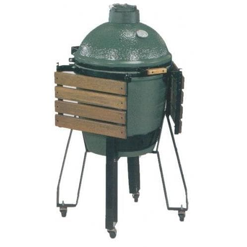 Big Green Egg Medium Charcoal Grill / Smoker with Nest and Side Shelves - 15 Inch Grid