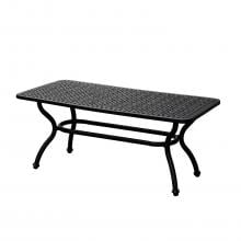 Elysian 42 X 22 Inch Rectangular Cast Aluminum Patio Coffee Table By Lakeview Outdoor Designs image