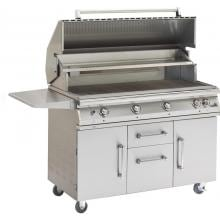 PGS Legacy Big Sur 51-Inch Freestanding Propane Gas Grill With Rotisserie PGS Legacy Big Sur 48-Inch LP Grill With Rotisserie On Cart (actual grill has two side shelves)