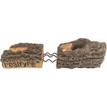 Peterson Real Fyre 20-Inch Split Oak Designer Plus Gas Log Set With Vented G45 Burner Real Fyre Logs Feature Rigid Steel Reinforcement