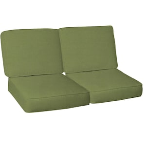 Sunbrella Spectrum Cilantro 4 Piece Medium Outdoor Replacement Loveseat Cushion Set W/ Piping By BBQGuys image