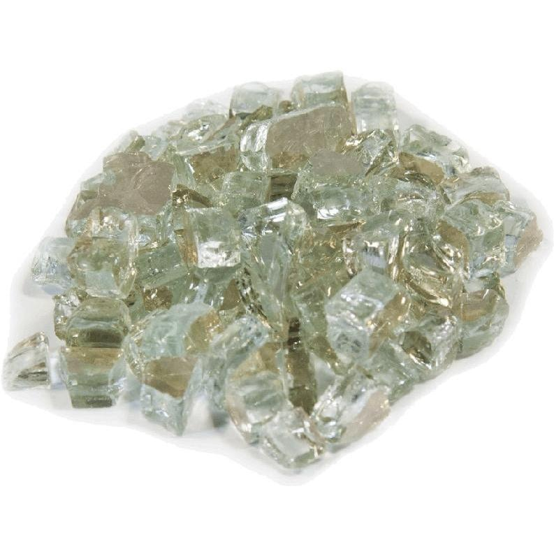 Dagan Industries 1/4-Inch Crystal Reflective Fire Glass - 10 Lbs