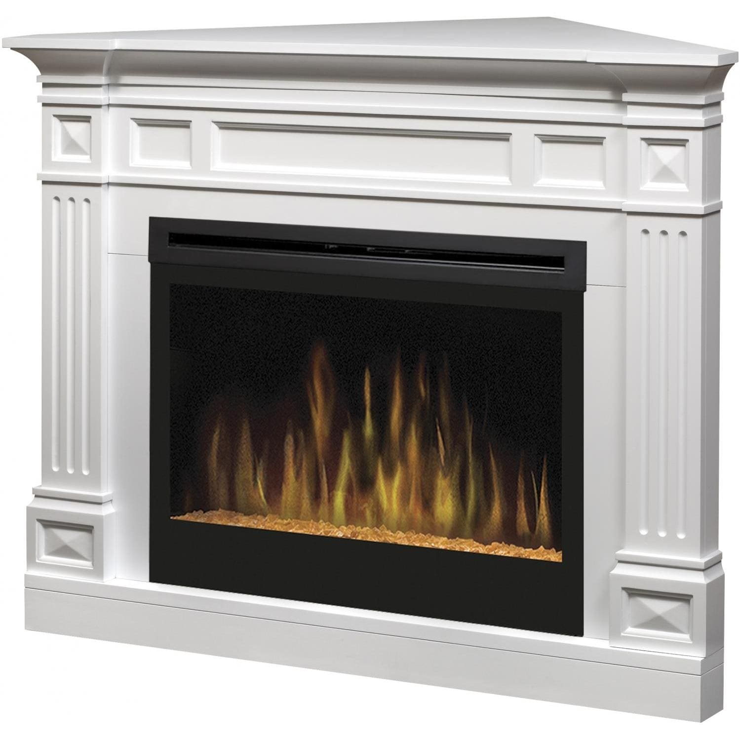 Dimplex Traditional 52-Inch Corner Electric Fireplace With Glass ...