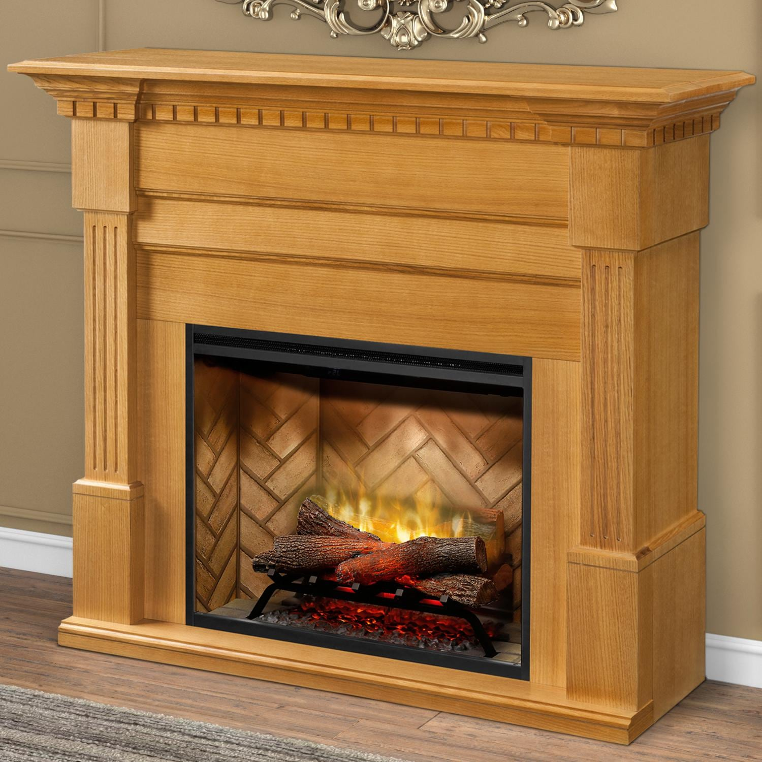 Fabulous Dimplex Christina Builtrite Modular 50 Inch Electric Fireplace Mantel Rift Oak Gds30Rbf 1801Ro Download Free Architecture Designs Scobabritishbridgeorg