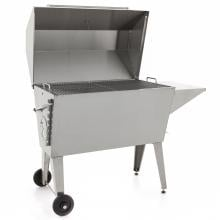 Cajun Grill Super 36-Inch Charcoal BBQ Grill - Stainless Steel Cajun Grill Super 50-Inch Charcoal BBQ Grill - Angled View Lid Open