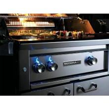 Lynx Sedona 30-Inch Freestanding Propane Gas Grill With One Infrared ProSear Burner And Rotisserie - L500PSFR-LP Sedona By Lynx 30 Inch Grill On Cart Control Knobs Illuminated With Blue LEDs