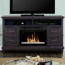 Dimplex Multi-Fire XD Solomon 62-Inch Electric Fireplace Media Console - Acrylic Ice Embers - Weathered Grey - GDS25GD-1594WG image