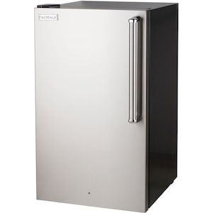Fire Magic 20-Inch 4.0 Cu. Ft. Premium Left Hinge Compact Refrigerator - Stainless Steel Door / Black Cabinet - 3598-DL image