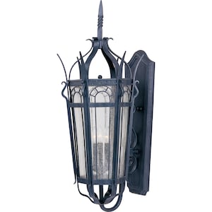 Maxim Cathedral Three Light 37-Inch Outdoor Wall Light - Country Forge - 30043CDCF image
