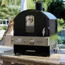 Pacific Living PL8BLK Propane Gas Black Outdoor Built-In Pizza Oven