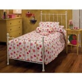 Hillsdale Molly White Metal Bed Set With Frame - Twin - 1222BTWR