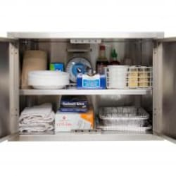 BBQGuys.com Aspen Series 27-Inch Stainless Steel Enclosed Cabinet Storage With Shelf image