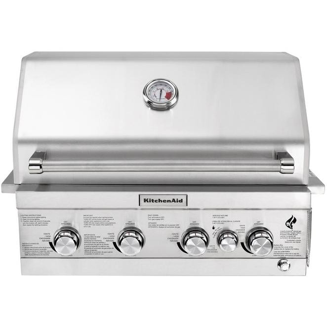 kitchenaid 30-inch built-in natural gas grill with rear burner