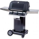 MHP WHRG4DD Freestanding Hybrid Natural Gas Grill W/ SearMagic Grids On Black Cart