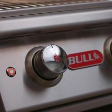 Bull Angus 30-Inch 4-Burner Freestanding Natural Gas Grill Bull Control Knob & Interior Lights Button