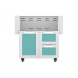 Hestan Double Drawer And Door Tower Cart For 30-Inch Gas Grill - Bora Bora - GCR30-TQ image