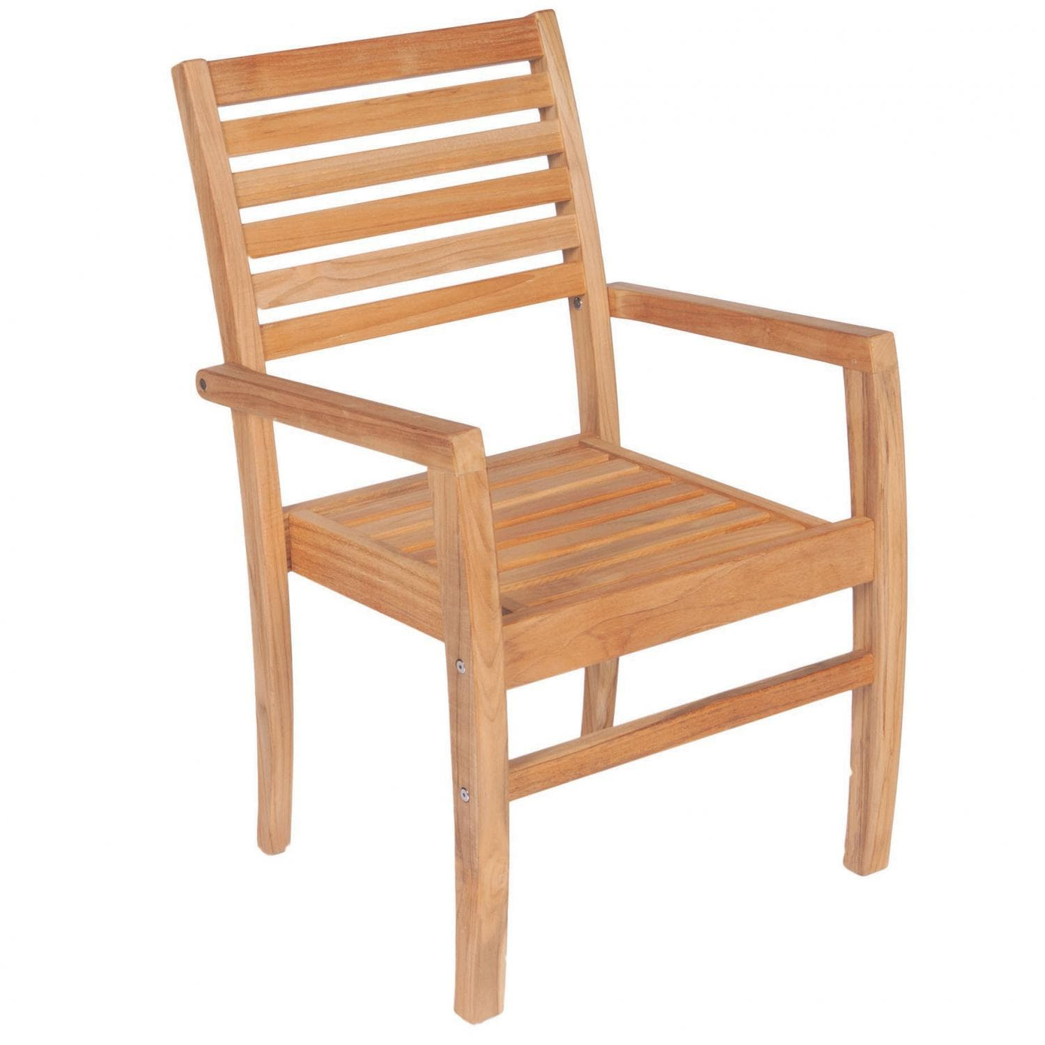 Avant Stacking Teak Patio Dining Arm Chair By Royal Teak Collection