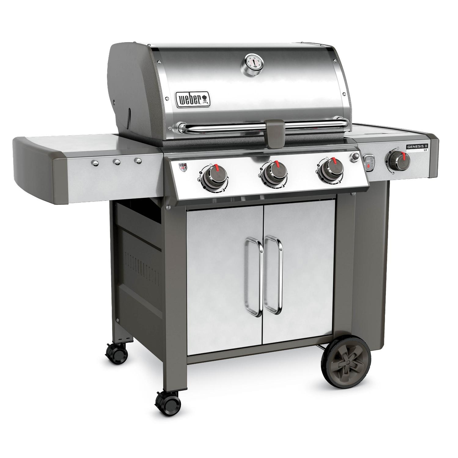 weber genesis ii lx s 340 freestanding propane gas grill. Black Bedroom Furniture Sets. Home Design Ideas