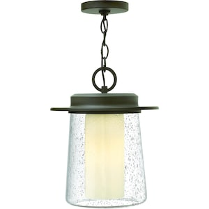Hinkley Lighting Riley One Light 14-Inch Outdoor Hanging Lantern - Oil Rubbed Bronze - 2012OZ image