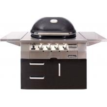 Primo Oval G420 36-Inch Ceramic 4-Burner Freestanding Kamado Natural Gas Grill (Ships As Propane With Conversion Fittings) image