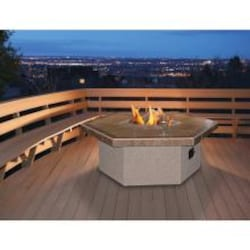 Cal Flame 48-Inch Propane Gas Fire Pit Table - Hexagon - Coffee Height image