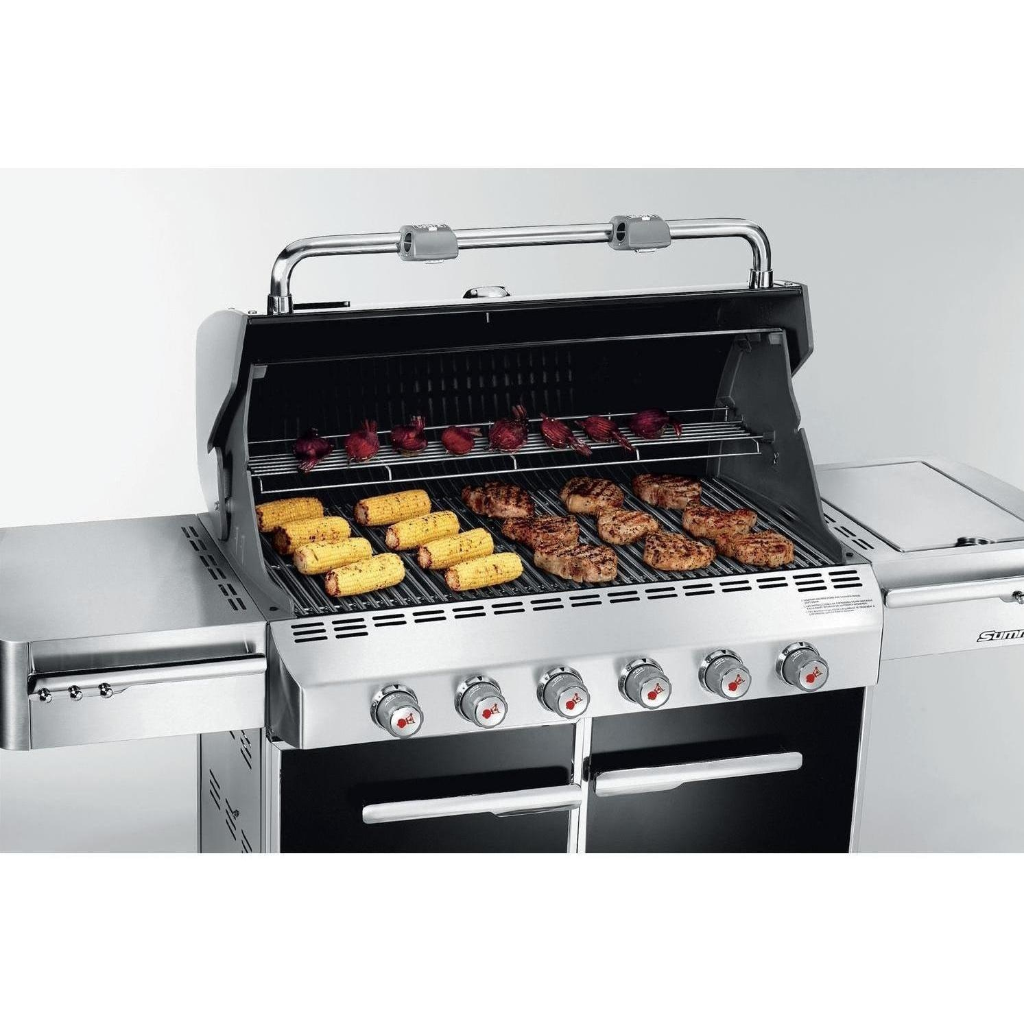 weber summit s 620 freestanding propane gas grill with side burner bbq guys. Black Bedroom Furniture Sets. Home Design Ideas