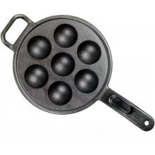 Lodge Pans Pro Logic Seasoned Cast Iron Aebleskiver Pan - P7A3
