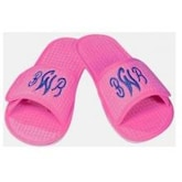 Terry Town Waffle Weave Slippers Medium - Hot Pink