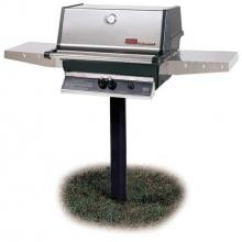MHP TJK2 Propane Gas Grill With Stainless Grids On In-Ground Post image