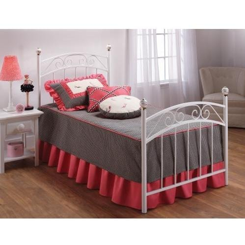 Hillsdale Emily White Metal Bed Set With Frame - Full - 1864BFR