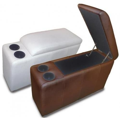 Diamond sofa zen collection modular lift top storage armrest with cup holders mocca Loveseat with cup holders