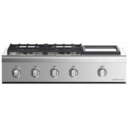 Fisher Paykel Professional (Formerly DCS) 36-Inch 4-Burner Propane Gas Cooktop With Griddle - CPV2-364GDL N image