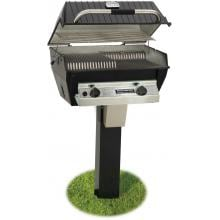 Broilmaster R3N Infrared Natural Gas Grill On Black In-Ground Post