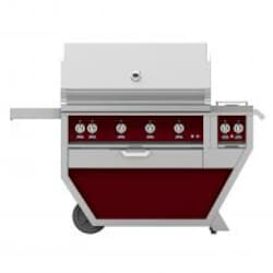 Hestan Deluxe 42-Inch Propane Gas Grill W/ Rotisserie & Double Side Burner - Tin Roof - GABR42CX2-LP-BG image