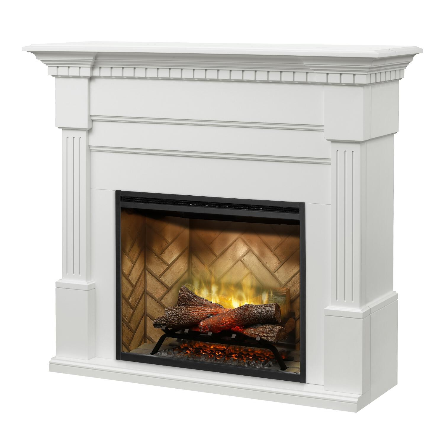 Awe Inspiring Dimplex Christina Builtrite Modular 50 Inch Electric Fireplace Mantel White Gds30Rbf 1801W Download Free Architecture Designs Scobabritishbridgeorg
