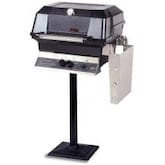 MHP JNR4DD Propane Gas Grill With Stainless Steel Shelves And SearMagic Grids On Bolt Down Post