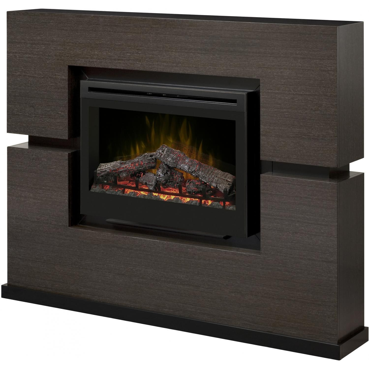 Dimplex electric fireplaces make a statement in any room with quality craftsmanship and a realistic fire. The Linwood electric fireplace from Dimplex features a 33-inch firebox and mantel in a modern rift grey finish. Patented 3D fire technology gives the