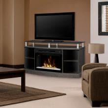 Dimplex Multi-Fire XD Windham 53-Inch Electric Fireplace Media Console - Acrylic Ice Embers - Silver Charcoal - GDS25CG-1015SC Dimplex Multi-Fire XD Windham 53-Inch Electric Fireplace Media Console - Lifestyle View
