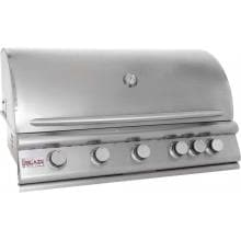 Blaze 40-Inch 5-Burner Built-In Propane Gas Grill With Rear Infrared Burner - BLZ-5-LP