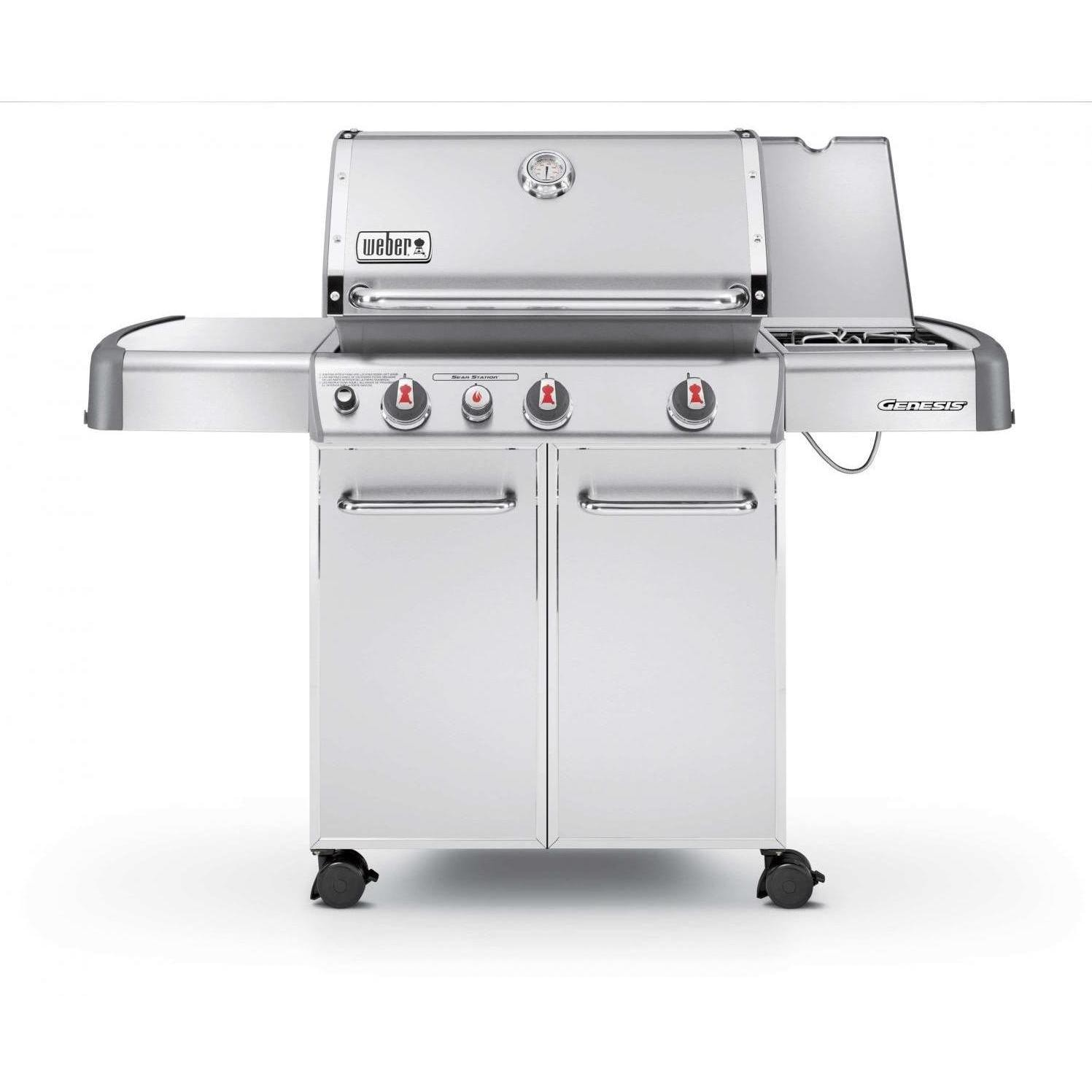 weber genesis s 330 with side burner open. Black Bedroom Furniture Sets. Home Design Ideas