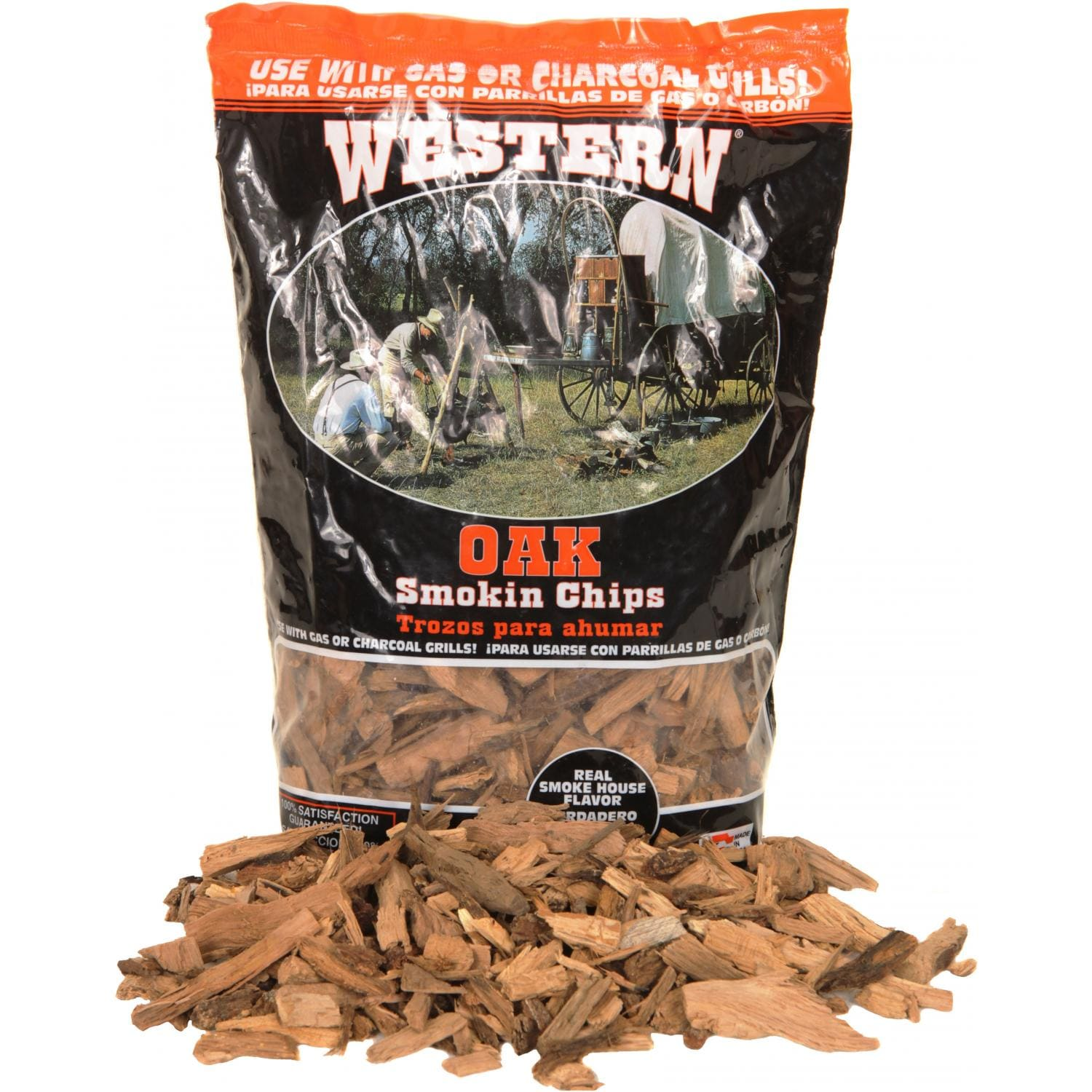 Western Wood Chips ~ Western oak bbq smoking chips cu in guys