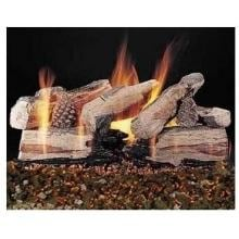 Rasmussen 30-Inch Evening CrossFire Gas Log Set With Vented Natural Gas Custom Pan Burner - Match Light