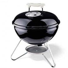 Weber Smokey Joe Silver Portable Charcoal Kettle Grill - Black