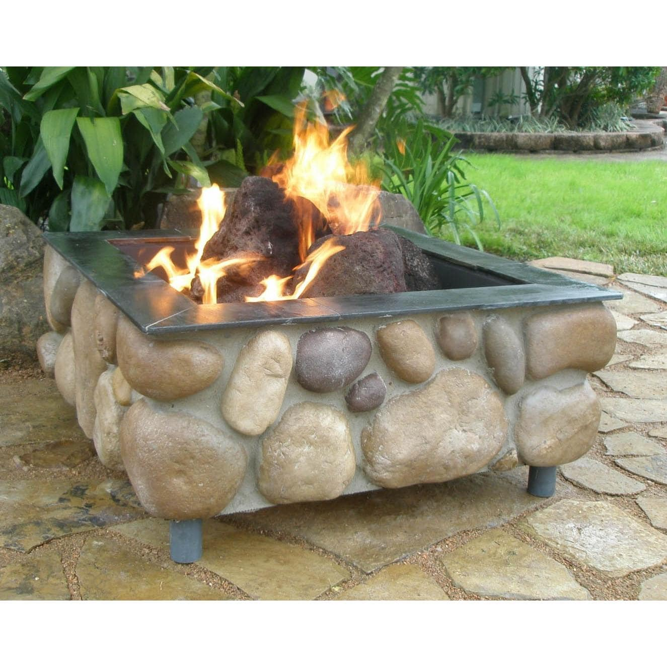 FireScapes The Colorado Square Natural Gas Fire Pit