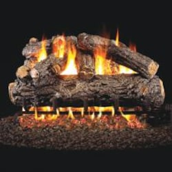 Peterson Real Fyre 30-Inch Rustic Oak Designer Log Set With Vented Propane G4 Burner - Manual Safety Pilot image