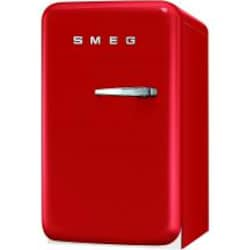 Smeg 1.5 Cu. Ft. Left Hinge Retro Style Compact Refrigerator - Red - FAB5ULR image